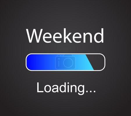 """Inscription """"loading Weekend"""""""