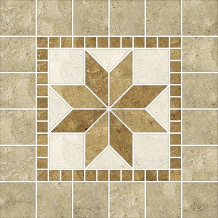 mosaïque beige motif décor