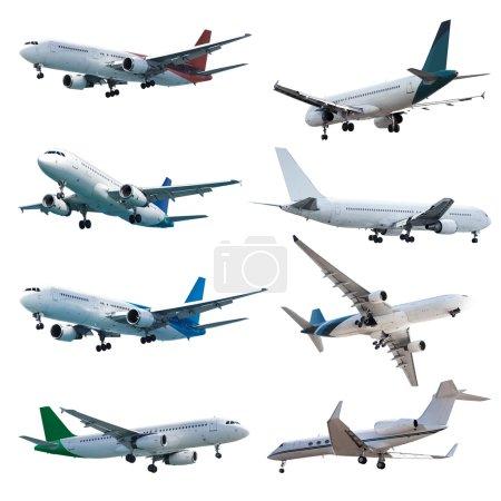 Photo pour Rel jet planes set, isolé sur fond blanc - image libre de droit