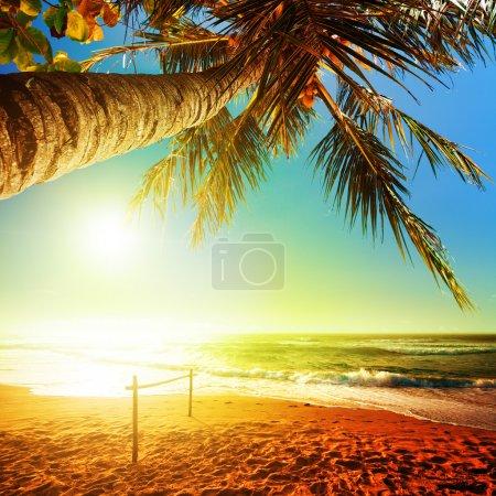 Photo pour Coucher du soleil après la tempête. composition de carrés. - image libre de droit