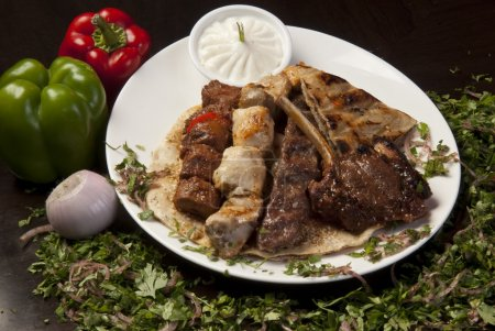 Arabic grilled meat plate.