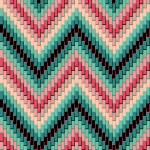 Seamless herringbone pattern in pinks, greens and ...