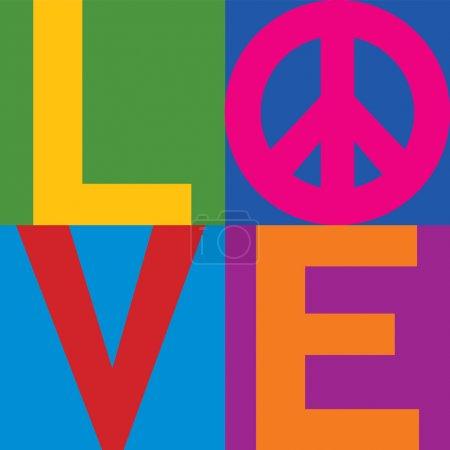 Color Block LOVE-Peace