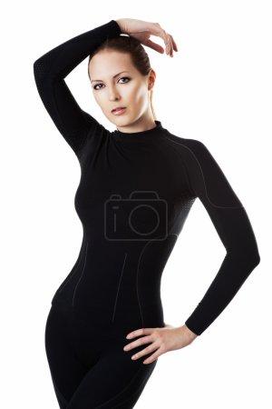Woman in hot sports underwear