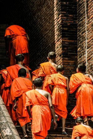 Photo for Monks in Ayutthaya, Thailand - Royalty Free Image