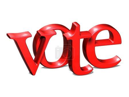 Photo pour 3D mot vote sur fond blanc - image libre de droit