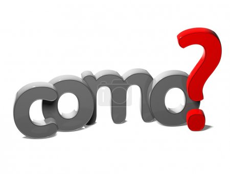 3D Question Word How In Spanish Language (Como) on white background