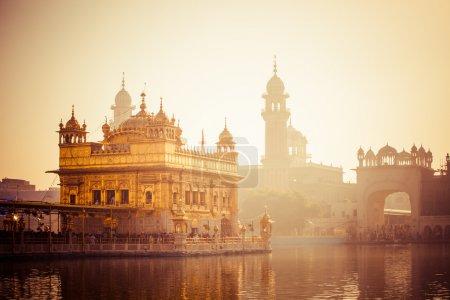 Photo for Sikh gurdwara Golden Temple (Harmandir Sahib). Amritsar, Punjab, India - Royalty Free Image