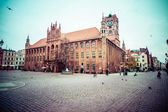 Gothic tower of town hall in Torun-city on The World Heritage List.