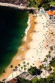 Letecký pohled na domy, rio de janeiro, Brasil urca beach a okolí