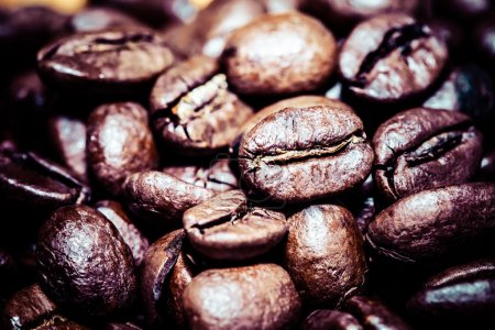 Coffee bean on macro for background