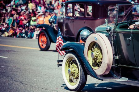 Photo for Classic cars parade. - Royalty Free Image