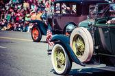 Classic cars parade.
