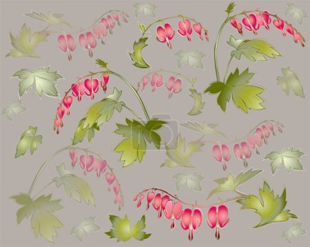 Seamless background from a flowers ornament, fashionable modern
