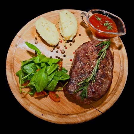 Photo for Roast beef on cutting board - Royalty Free Image