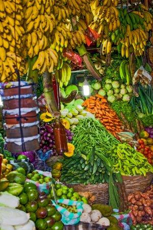 Various fruits at local market in Sri Lanka
