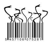 Barcode with snakes