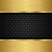 Abstract golden background with metallic speaker grill vector illustration