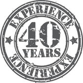 Grunge 40 years of experience rubber stamp vector illustration