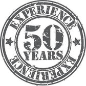 Grunge 50 years of experience rubber stamp vector illustration