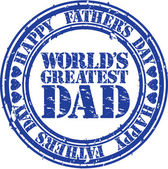 Grunge Happy father s day rubber stamp vector illustration