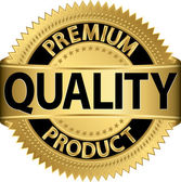 Premium quality product golden label vector illustration