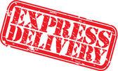 Grunge express delivery rubber stamp vector illustration