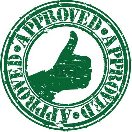 Illustration for Grunge approved rubber stamp, vector illustration - Royalty Free Image