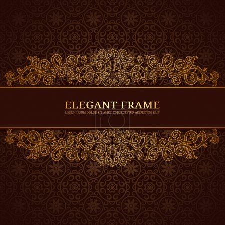 Illustration for Vintage frame with golden ornament - Royalty Free Image