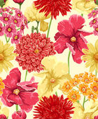 Floral seamless wallpaper in watercolor style