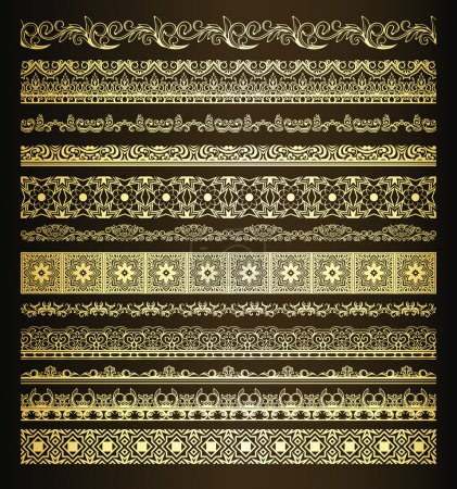 Set of vintage borders