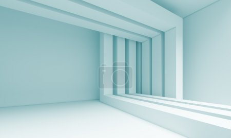 Photo for 3d Blue Abstract Architecture Background - Royalty Free Image