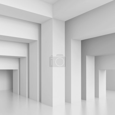 Photo for 3d White Modern Interior Wall - Royalty Free Image