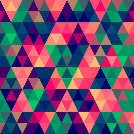 Illustration pour Modèle abstrait vectoriel de triangle de pixel - image libre de droit