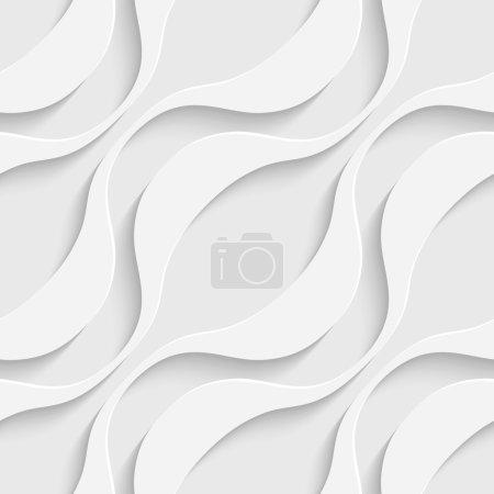 Illustration pour Modèle de vague sans couture abstrait vectoriel - image libre de droit