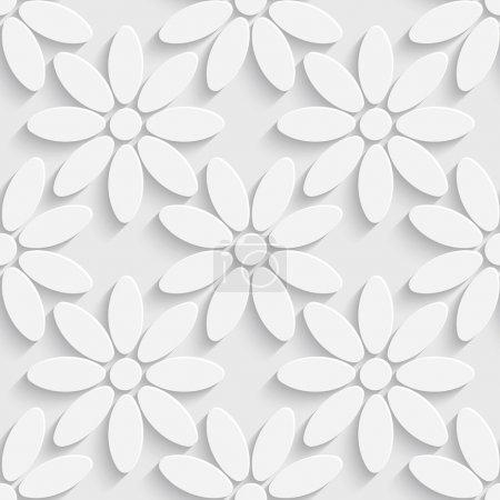 Illustration pour Vecteur motif floral abstrait sans couture - image libre de droit