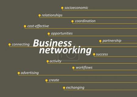 Illustration pour Diagramme de réseautage d'entreprise avec clés - image libre de droit