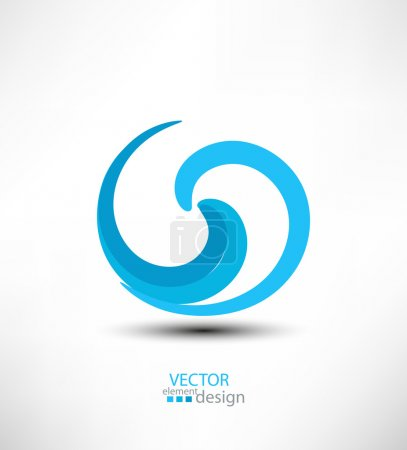 Abstract vector design element for business