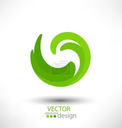 Illustration pour Élément de design vectoriel vert abstrait pour les entreprises - image libre de droit