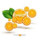 Illustration with oranges