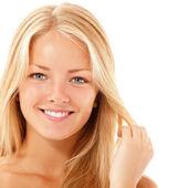 teen girl beautiful cheerful enjoying isolated on white