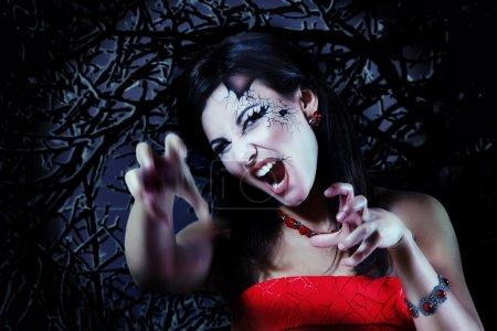 woman beautiful halloween vampire