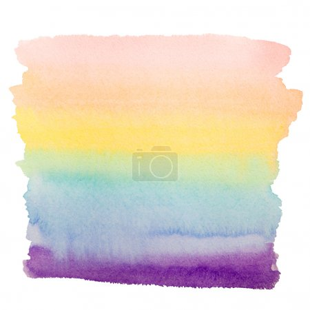 rainbow watercolor art background