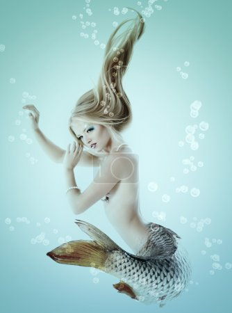 Mermaid beautiful magic underwater mythology