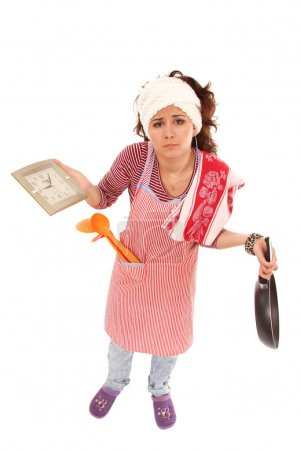 Woman tired housewife