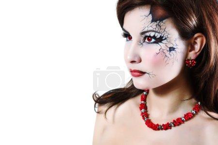 halloween broken doll beautiful girl