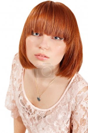 young beautiful redheaded teen girl