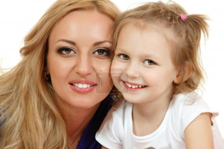 Portrait of happy mother with liitle daughter