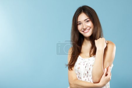 Happy smiling teen girl portrait