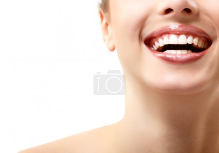 Wide smile of young fresh woman